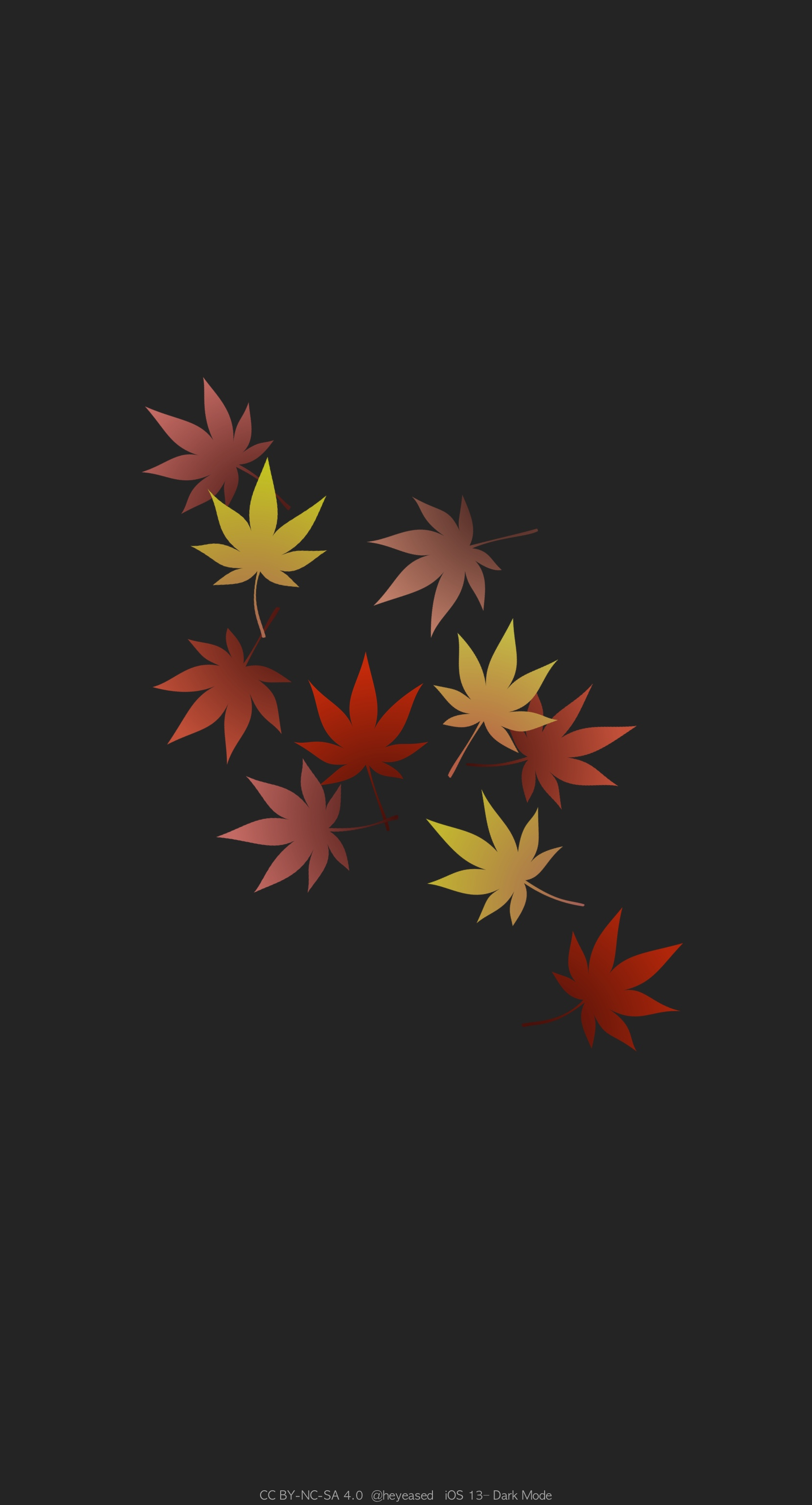 ドックを隠す秋の壁紙 Hide Dock Fall Mysterious Iphone Wallpaper