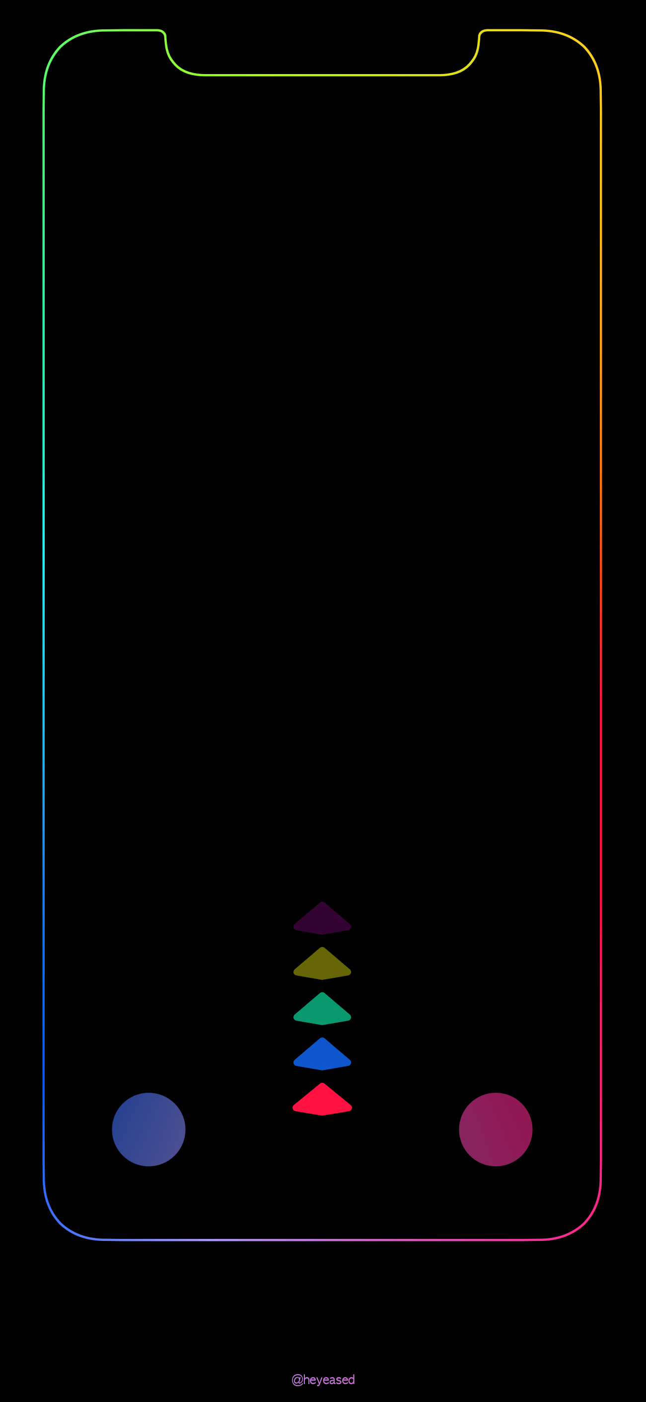Xの壁紙 カラードック The X Color Dock Mysterious Iphone Wallpaper