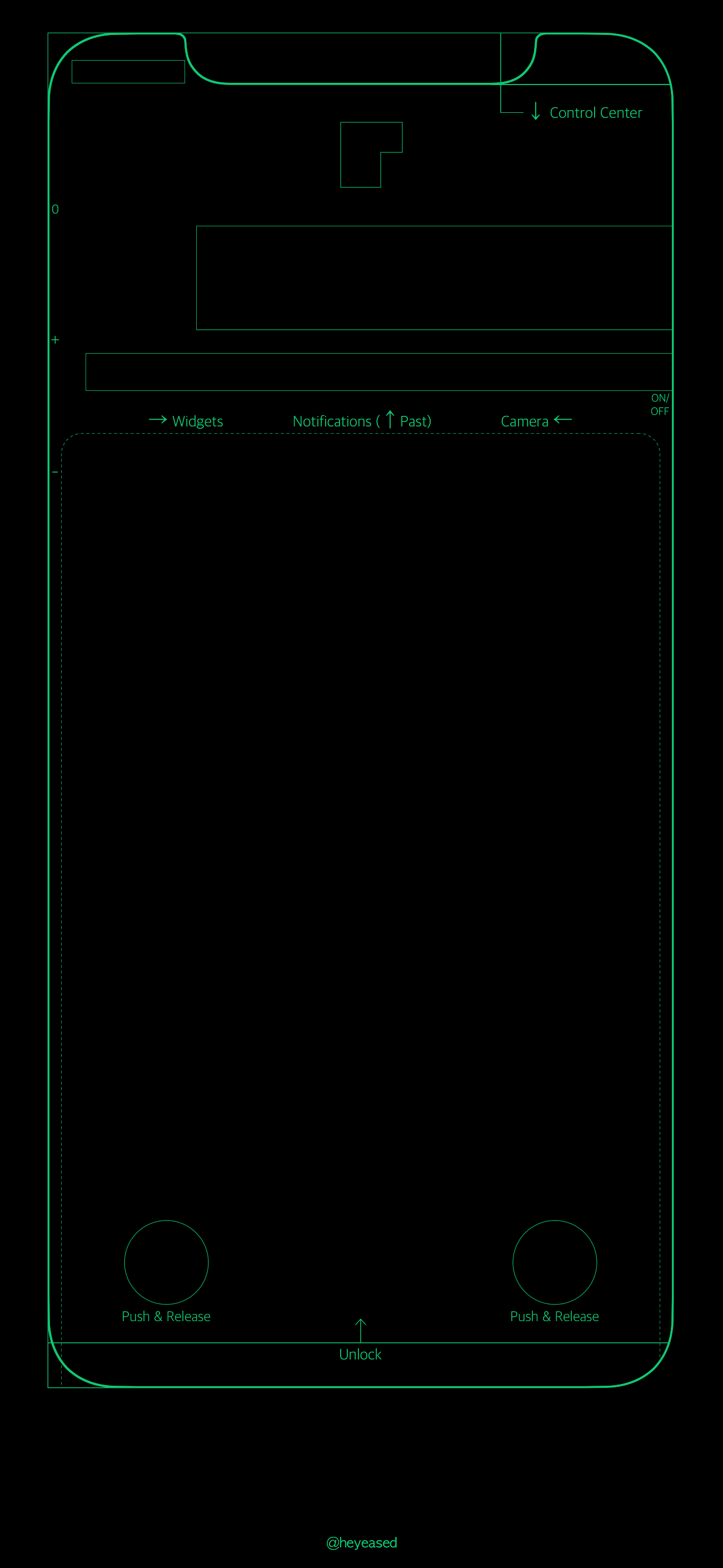 Iphone X Neon Border Wallpaper